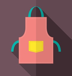 Flat Design Apron vector image