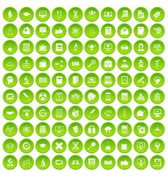 100 analytics icons set green circle vector