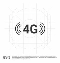 4g connection icon vector image