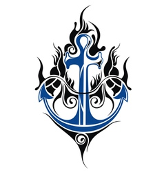 Anchor tattoo vector