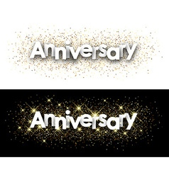 Anniversary paper banners vector