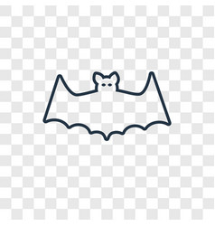 bat concept linear icon isolated on transparent vector image