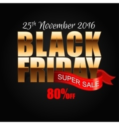 Black Friday 6 vector image