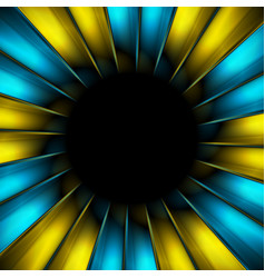 blue and yellow beams abstract background vector image