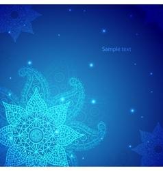 Blue Indian Vintage Ornament vector