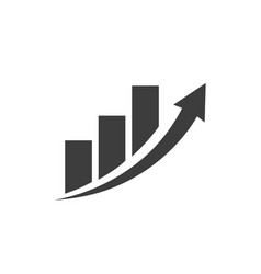business chart icon with arrow vector image