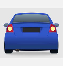 car template on white background vector image