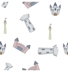 Castle pattern cartoon style vector image