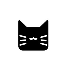 cat animal icon vector image
