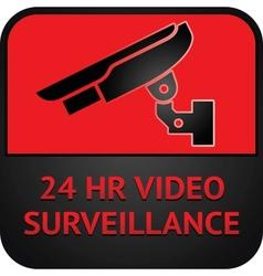 Cctv symbol surveillance pictograph vector