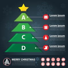 christmas banner infographic vector image