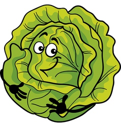 Cute cabbage vegetable cartoon vector