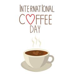 cute simple cartoon coffee cup international vector image