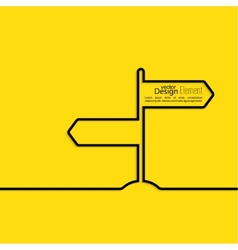 Direction arrow sign vector