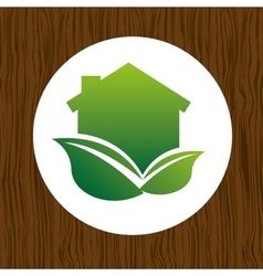 Eco house icon design vector