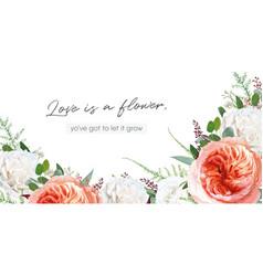 Elegant trendy floral watercolor bouquet frame vector