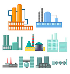 factory set icons in cartoon style big collection vector image