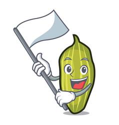Flag cardamom mascot cartoon style vector