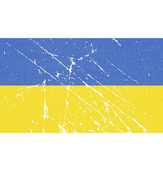Flag of Ukraine with old texture vector image