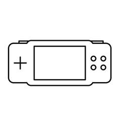 gamepad on white background vector image