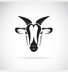 Goat head design on white background wild animals vector