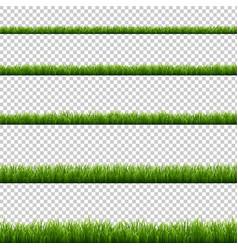 Green grass big set transparent background vector