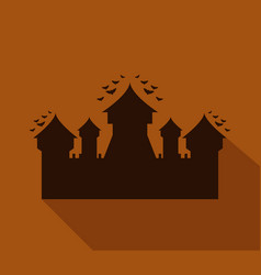 halloween castle icon vector image