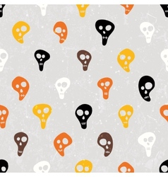 Halloween print with skulls funny skulls vector