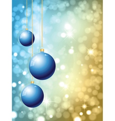 hanging christmas baubles vector image