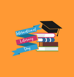 Happy international literacy day logo vector