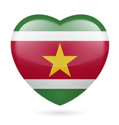 Heart icon of Suriname vector