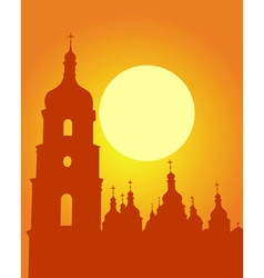 kiev sophia cathedral silhouette vector image