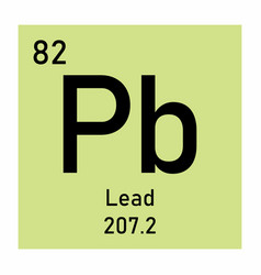 Lead chemical symbol vector