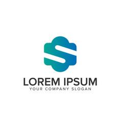 letter s minimalist logo design concept template vector image