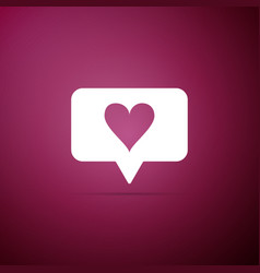 like and heart icon counter notification icon vector image