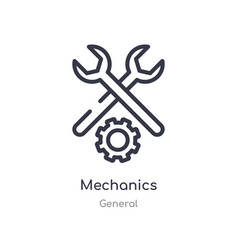 Mechanics outline icon isolated line from general vector