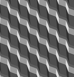 Monochrome pattern with black and gray striped vector image