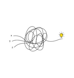 Multiple very hard thinking inspiration idea vector