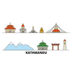 Nepal kathmandu flat landmarks vector