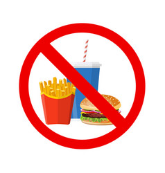 no hamburger french fries vector image