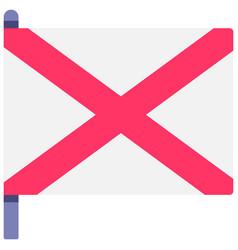 northern ireland flag flat vector image