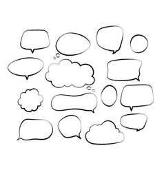 outline speech bubbles doodle speech balloon vector image