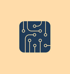pictograph of circuit board vector image vector image