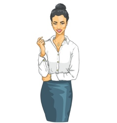 Portrait of beautiful Asian woman vector