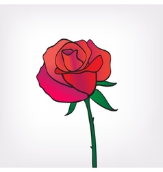 Red rose icon isolated vector