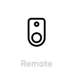 remote icon editable outline vector image