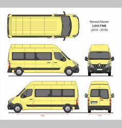 Renault master passenger van l3h3 fwd 2014-2019 vector