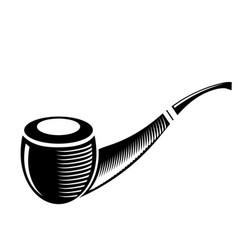 Retro wooden smoking pipe vector