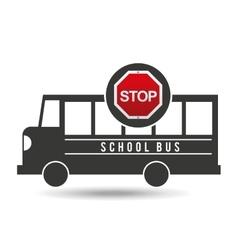 school bus side stop road sign design vector image