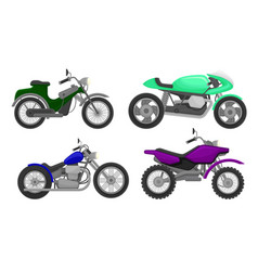 Set motorcycles different models vector